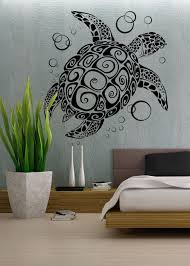sea turtle wall decal art removable decoration interior design handmade premium this one and only