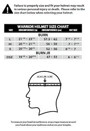 Organized Helmet Head Size Chart 2019