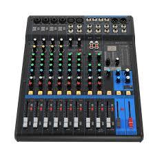 <b>Finlemho DJ Mixer Audio</b> Console MG12XU Professional Audio 48V ...
