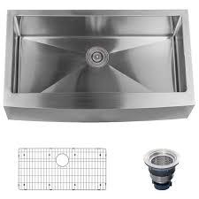 miseno mno163620f 16 gauge stainless steel farmhouse 36 single pertaining to single basin kitchen sink for