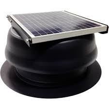 cardinal ventilation 30 watt 1650 cfm black solar powered attic fan 30 inch attic fan