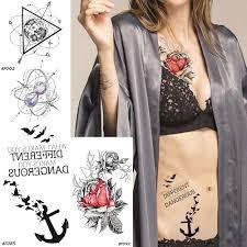 Baofuli цветок временные татуировки стикер треугольник вселенная