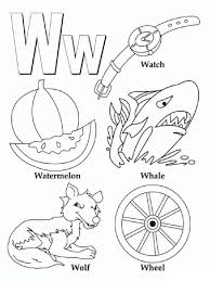 And each letter is presented. English Letters Coloring Pages For Studying The English Alphabet
