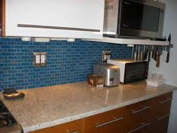 kitchen backsplash blue subway tile. Glass Subway Tile Mosaic Backsplash Kitchen Blue S