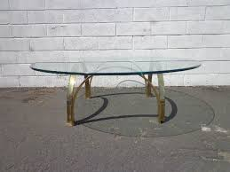 gold brass coffee table hollywood