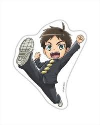 Junior high contains two volumes' worth of the original japanese manga, so it comes at a staggering 300+ pages of levity that is sure to be a delight to fans of the heavy aot anime/manga. Kobutsuya Attack On Titan Junior High Water Resistance Sticker L Size 01 Eren Anime Toy Hobbysearch Anime Goods Store