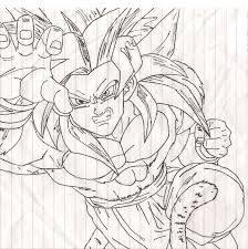 Small Picture Ss4 Goku Coloring Pages Ssj4 goku by sparten69r goku ssj4