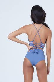 Dolce Vita Swim Size Chart Kokomo Embroidered High Waist Bikini Bottom Pigeon Blue