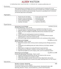 Account Manager Resume Sample – Lifespanlearn.info