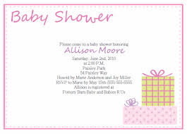 baby shower invitations for girls templates baby shower invitation format parlo buenacocina co
