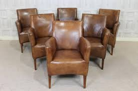 antique style tan leather armchair vintage style dining chair kempton