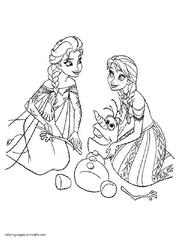 Elsa Printable Coloring Pages Home Frozen 18 Hangenixcom Elsa