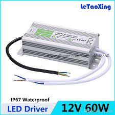 2018 dc 12v 60w led driver transformers waterproof power supply transformer power adapter 12v 5a ac 90 250v outdoor use ip67 for led strip from e time