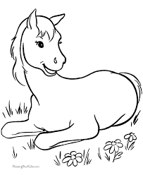 Small Picture Free Horse Coloring Page