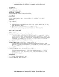 Dance Resume Fascinating New 60 Resume Dance Resume Template Free Cover Letter Resume