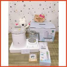 Review máy tiệt trùng sây khô vs bình đun nước moaz mb018