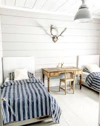 simple bedroom decorating ideas. Dreamy Whites Lifestyle Uses Antlers In Her Rustic Simple Boys Bedroom For  A Farmhouse Style Decorating Ideas D