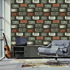 Vlies Behang Nummerbord Stoer Behangen En Schilderen Pinterest