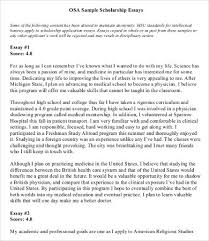 Example Of Scholarship Essay Scholarship Essay Format Template Examples And Forms