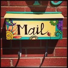 painted mailbox designs. Painted Mailbox Designs H