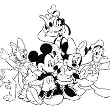 Small Picture Mickey Mouse Christmas Coloring Pages To Print Coloring Coloring