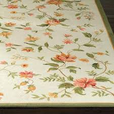 blooming vine wool area rugs frontgate round