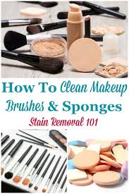 here are simple instructions for how to clean makeup brushes and sponges so you can