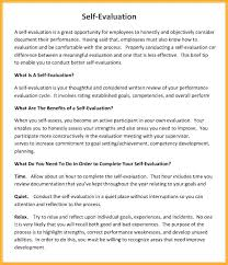 Performance Reviews Samples Annual Performance Review Employee Self Evaluation Examples