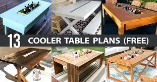 cooler table cooler table plans make cooler using table fan cooler table for pontoon boat