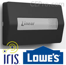 linear z wave garage door openerLowes Iris to Launch First Ever ULCompliant ZWave Garage Door