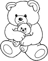 Small Picture Teddy Bear and Little One Coloring Page Teddy Bear and Little One
