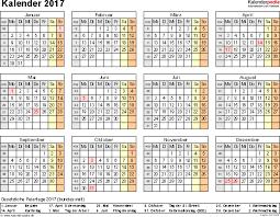 Excel Kalender Kalender 2017 Zum Ausdrucken In Excel 16 Vorlagen Kostenlos