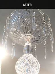 it has been a long time since our chandelier has looked so clean we even forgot there was etching on the lamps our chandelier is large and is not