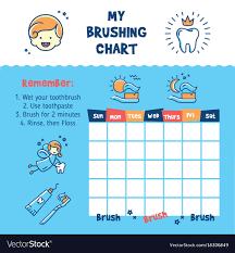 Teeth Brushing Chart Teeth Brushing Incentive Chart Teeth Cleaning