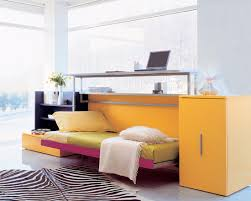 Cozy Fold Down Beds For Small Spaces : Modern Kids With A Stand Up Work  Station
