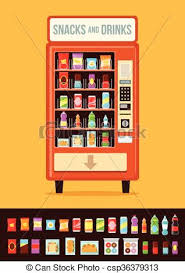 Vending Machine Food Inspiration Vending Machine With Food Vector Flat Cartoon Illustration