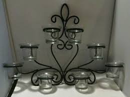 black metal wrought iron wall sconce