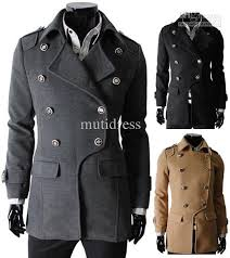 2018 men s trench coats classic double ted pea coat man popular trench coat mens overcoat lapel high quality outwear korean xs s m from mutidress
