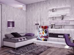 Purple Feature Wall Bedroom Purple And Grey Living Room Wallpaper Yes Yes Go