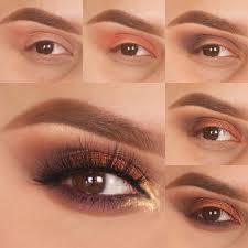 simplistic smokey eye makeup in light brown shade