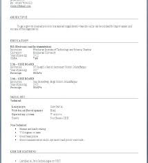 Latest Resume Format 2016 For Experienced Download Template Easy