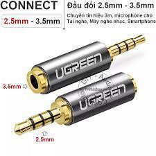 Đầu jack tai nghe chuyển âm thanh 2.5mm đực sang 3.5mm cái UGREEN 20501