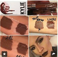 kylie jenners true brown vs colour pops limbo