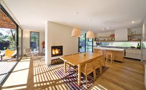 open plan living dining and kitchen areas