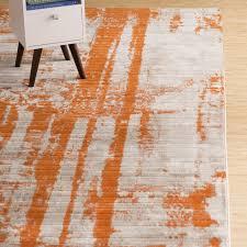 popular orange area rug in wrought studio ferrint reviews wayfair plan 4