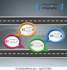 Road Infographic Design Template And Marketing Icons Vector Eps 10