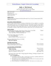 Accounting Resume Cover Letters Entry Level Resume Example Entry Level Accounting Resume Sample
