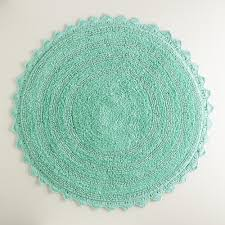 bathroom small round rugs turquoise finish for
