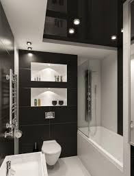 Superb Kleines Badezimmer Fliesen Ideen Schwarz Weiss Kombination Matt