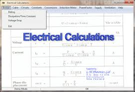 Electrical Bus Bar Ampacity Chart Download Electrical Calculations 2 70 0 4